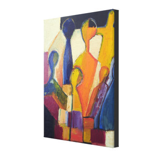 Modern Cubism Figure Abstract Canvas Print