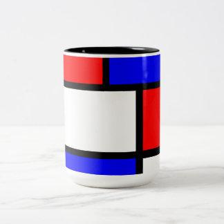 Modern cup Mondrian style