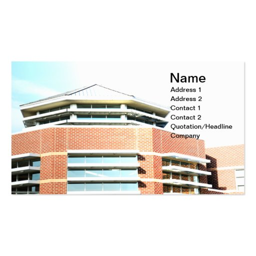 modern cupola for a red brick building business cards
