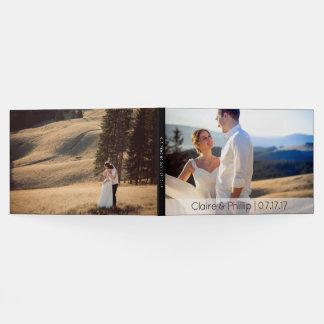 Modern Custom 2 Photo Wedding Monogram Guest Book