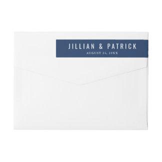 Modern Custom Color Wedding Wrap Around Labels