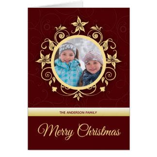 Modern Custom Photo Holiday Greetings Card