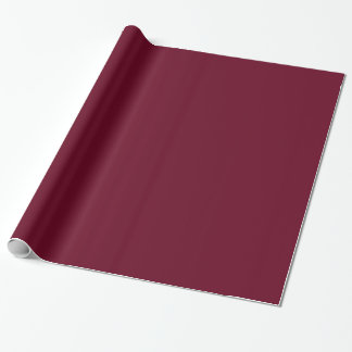 Modern Customisable Dark Maroon Red Wrapping Paper