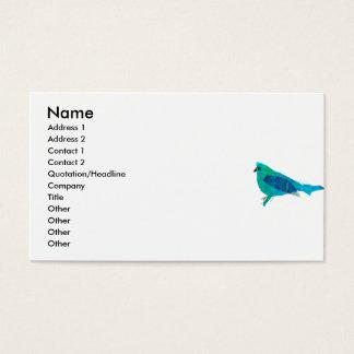 Modern Cute Animal Design Bluebird Art Business Card