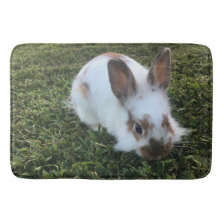 Modern Cute Mr. Bunny Photo Bath Mat