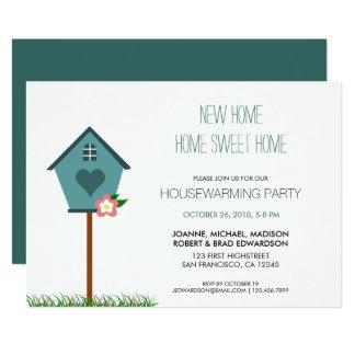 Modern cute New Home Housewarming party Card