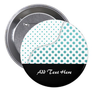 Modern Cute Turquoise and White Polka Dot Design 7.5 Cm Round Badge