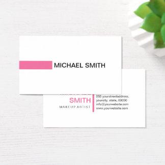 Modern Cyclamen Elegant Professional Plain White Business Card