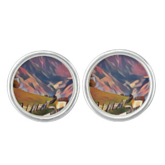 modern, dadaism,digital,painting,colorful,norway,n cufflinks