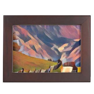 modern, dadaism,digital,painting,colorful,norway,n keepsake box
