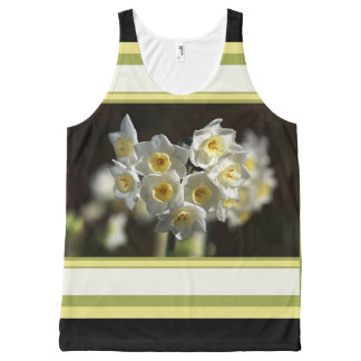 Modern Daffodils and Design by Bubbleblue All-Over Print Tank Top