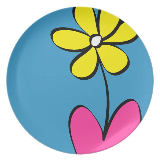 Modern Daisy Flower Dinner Plate