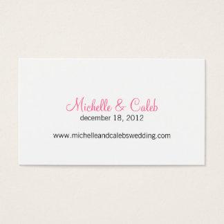 modern daisy wedding website business card