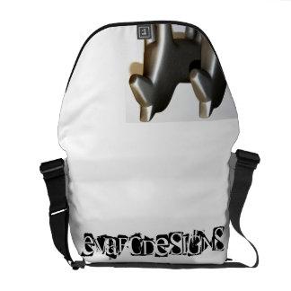 Modern Dalecarlian horses in good-looking covers Messenger Bag