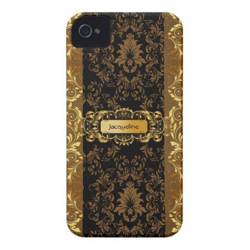 Modern Damask Elegant Blackberry Bold Case