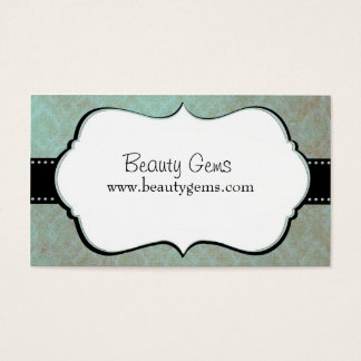 Modern Damask Hair Dresser Business Card
