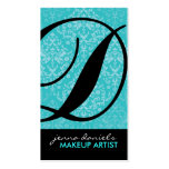 Modern Damask Monogram Business Cards