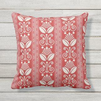 Modern Damask Outdoor Pillow