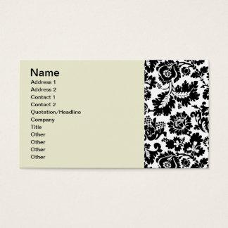 Modern Damask William Morris Business Card