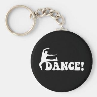 modern dance basic round button key ring
