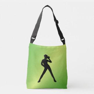 Modern Dance Green Crossbody Bag