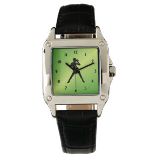 Modern Dance Green Face w Black Numbers Watch