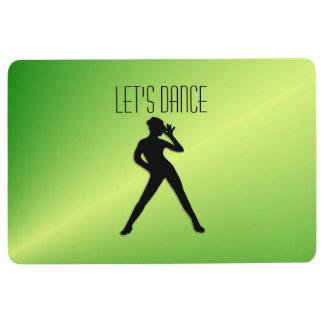 Modern Dance Green Floor Mat
