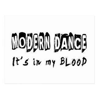 Modern Dance It's In My Blood Postcard