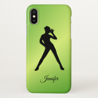 Modern Dance with Name iPhone X Case