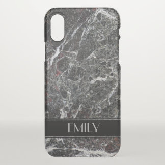 Modern Dark And Light Gray Marble iPhone X Case