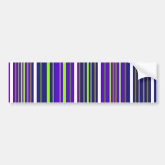 Modern dark blue white and light green stripes bumper sticker