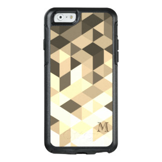 Modern Dark Brown And Sepia Geometric Shapes OtterBox iPhone 6/6s Case