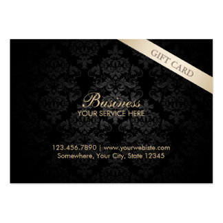 Modern Dark Damask Chubby Gift Certificates Pack Of Chubby Business Cards