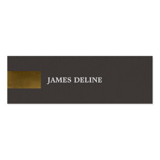 Modern Dark Grey Copper Pattern Consultant Pack Of Skinny Business Cards