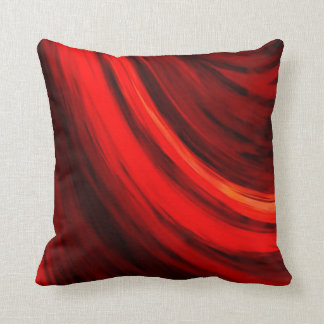 Modern Dark Red Brown Color Abstract Cushion