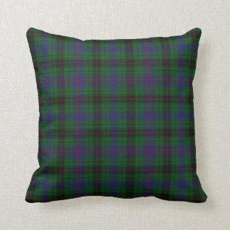 Modern Davidson Tartan Plaid Pillow