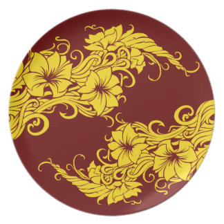 Modern decorated plate