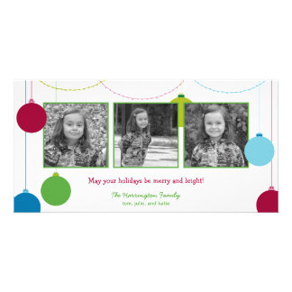 Modern Decorations Christmas/Holiday Cards Customised Photo Card