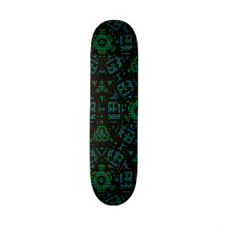 Modern decorative abstract pattern skateboards