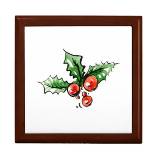 Modern Decorative New Year Christmas Leaves Gift Box