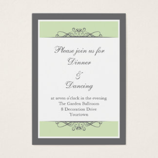 Modern Decorative Reception Card
