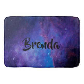 Modern Deep SpaceAbstract Background Bath Mat