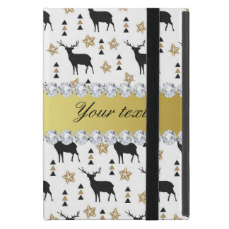 Modern Deer Pattern and Diamonds Cover For iPad Mini