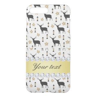 Modern Deer Pattern and Diamonds iPhone 8 Plus/7 Plus Case