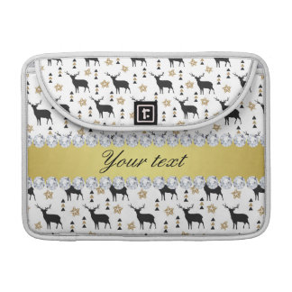 Modern Deer Pattern and Diamonds Sleeve For MacBook Pro