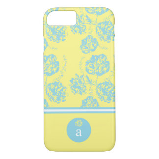 Modern, Delicate Blue Floral iPhone 7 Case