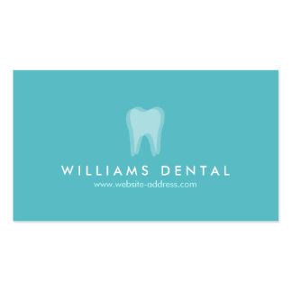 Modern Dentist Aqua Tooth Logo, Dental Office Business Card Templates