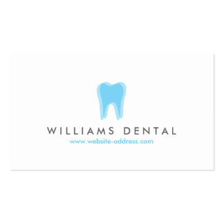 Modern Dentist Blue Tooth Logo, Dental Office Pack Of Standard Business Cards