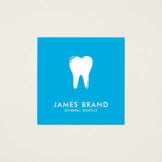 Modern Dentist Square Business Card