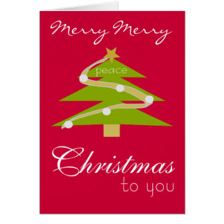 Modern Design Christmas Wishes Card